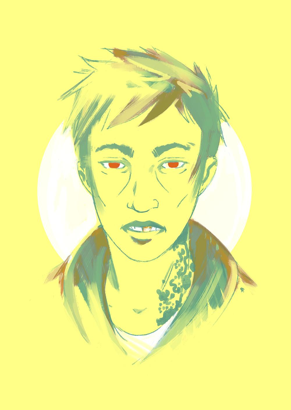 Red eye boy